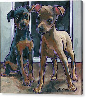 Guinness And Bailey Canvas Print by Nadi Spencer