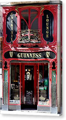 Canvas Print featuring the photograph Guinness Beer 5 by Andrew Fare