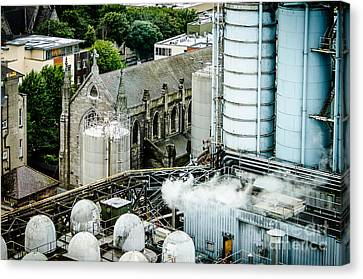 Guinness Brewery And St James Church In Dublin Canvas Print
