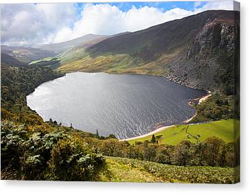 Guinness Lake In Wicklow Mountains  Ireland Canvas Print by Semmick Photo