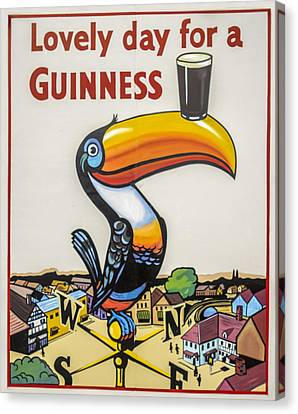 Guinness Toucan Canvas Print by F Leblanc