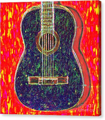Kitschy Canvas Print - Guitar - 20130123v1 by Wingsdomain Art and Photography
