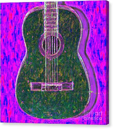 Guitar - 20130123v2 Canvas Print by Wingsdomain Art and Photography