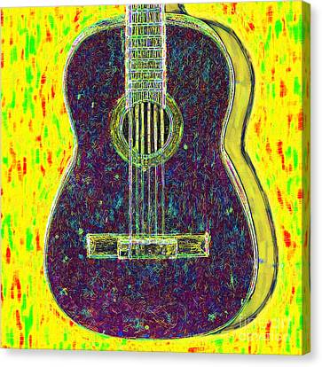 Kitschy Canvas Print - Guitar - 20130123v3 by Wingsdomain Art and Photography