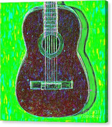 Guitar - 20130123v4 Canvas Print by Wingsdomain Art and Photography