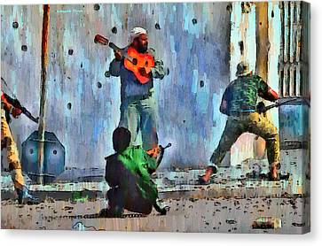 Guitar At Battlefield - Pa Canvas Print by Leonardo Digenio