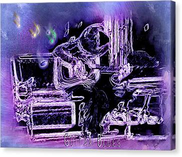 Canvas Print featuring the photograph Guitar Blues by Susan Kinney