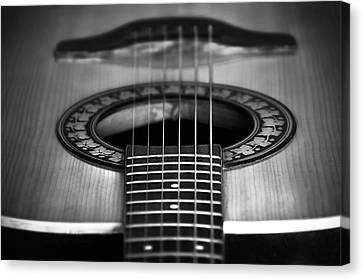 Guitar Close Up Canvas Print by Svetlana Sewell