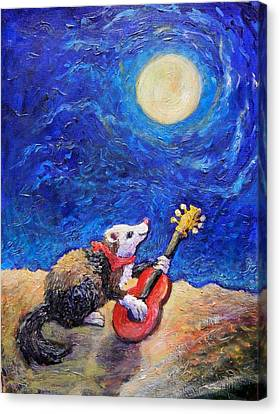 Guitar Ferret Canvas Print
