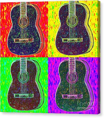Guitar Four 20130123v1 Canvas Print by Wingsdomain Art and Photography