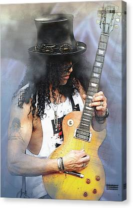 Guitar Giant - Slash Canvas Print by Don Kuing