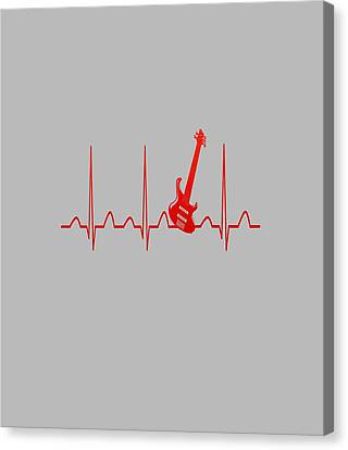 Palpitation Canvas Print - Guitar Heartbeat by Sophia