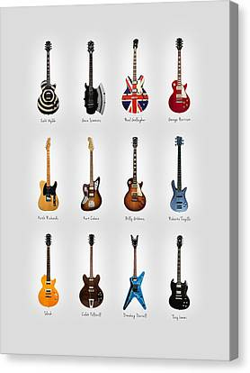 Guitar Icons No3 Canvas Print by Mark Rogan