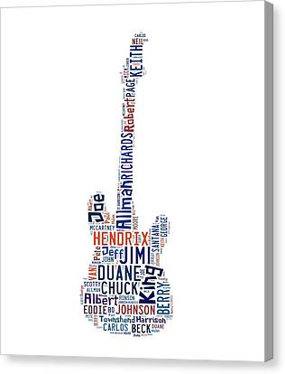 Guitar Legends Canvas Print by Bill Cannon