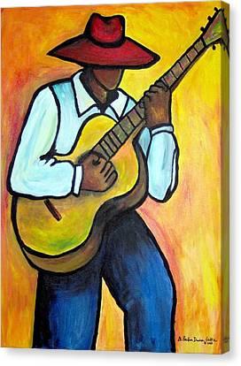 Guitar Man Canvas Print by Diane Britton Dunham