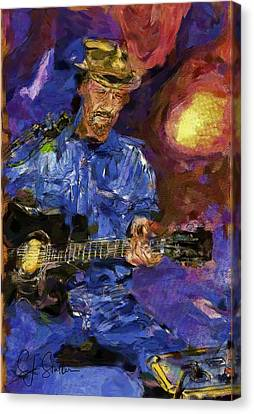 Guitar Man Canvas Print by Shirley Stalter