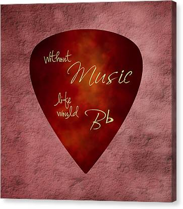Guitar Pick - Without Music Canvas Print by Tom Mc Nemar