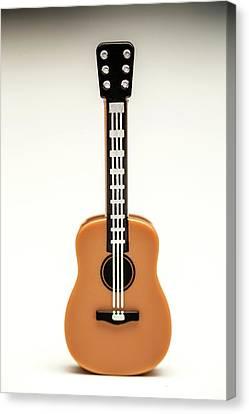 Minifig Canvas Print - Guitar by Samuel Whitton