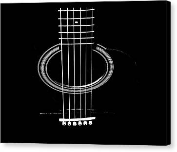 Guitar Strings Canvas Print by Susan Stone