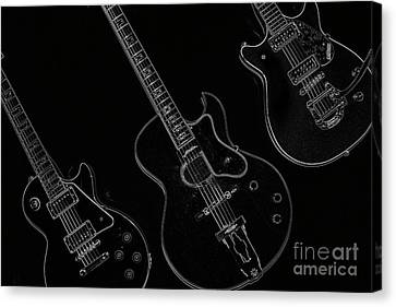 Guitar Trio Canvas Print by Karol Livote