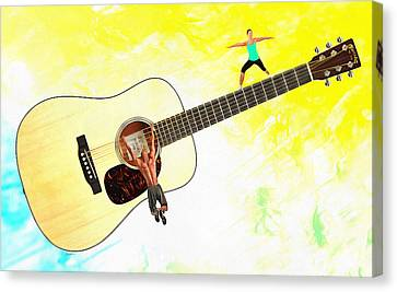 Guitar Workout Canvas Print by Anthony Caruso