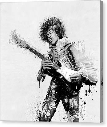 Jimmy Hendrix Canvas Print - Guitarist by Daniel Hagerman
