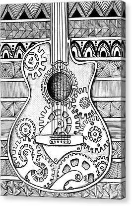 Guitarra No 2 Canvas Print by Delein Padilla