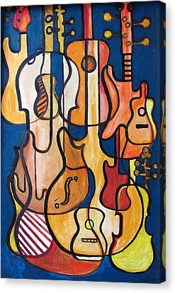 Guitars And Fiddles Canvas Print by Douglas Pike