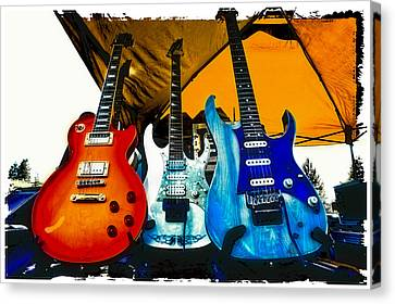 Guitars At Intermission Canvas Print by David Patterson