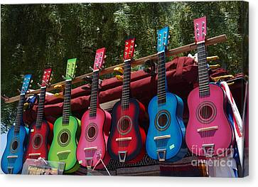Toy Shop Canvas Print - Guitars In Old Town San Diego by Anna Lisa Yoder