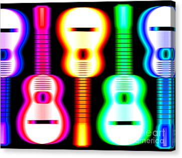 Guitars On Fire 3 Canvas Print by Andy Smy