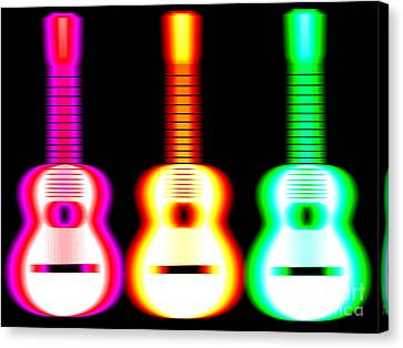 Blurred Canvas Print - Guitars On Fire by Andy Smy
