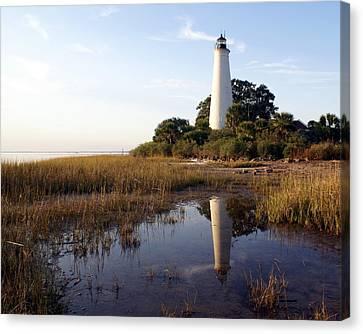 Gulf Coast Lighthouse2  Canvas Print by Marty Koch