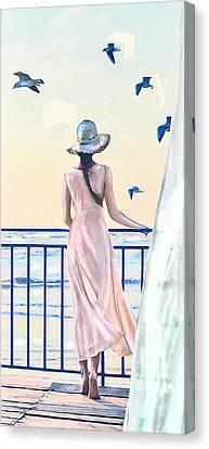 Gulf Coast Morning Canvas Print by Jane Schnetlage