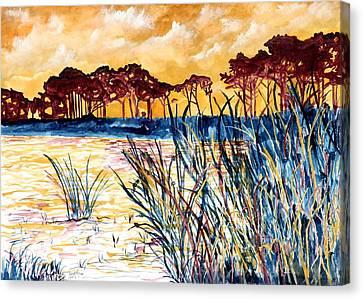 Gulf Coast Seascape Tropical Art Print Canvas Print by Derek Mccrea