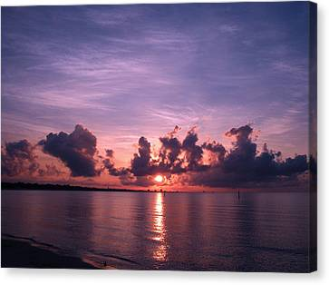 Gulf Coast Sunrise Canvas Print by Brian Wright