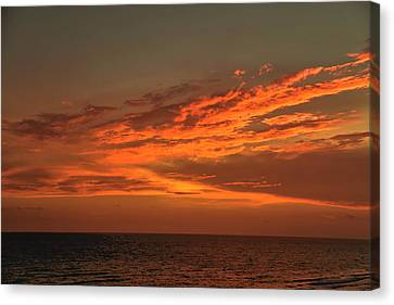 Gulf Of Mexico Sunset Canvas Print by Theresa Campbell