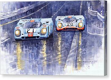 Gulf-porsche 917 K Spa Francorchamps 1970 Canvas Print