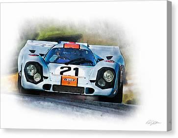 Gulf Porsche Canvas Print by Peter Chilelli