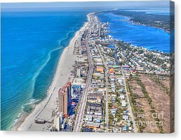 Gulf Shores Beach Looking W Canvas Print