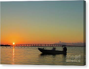 Gulf Sunrise Canvas Print by Donna Schumann