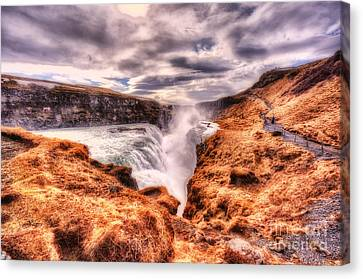 Gulfoss Waterfall Iceland 2nd Tier Canvas Print by Jack Torcello