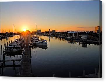 Gulfport Harbor Sunset Canvas Print
