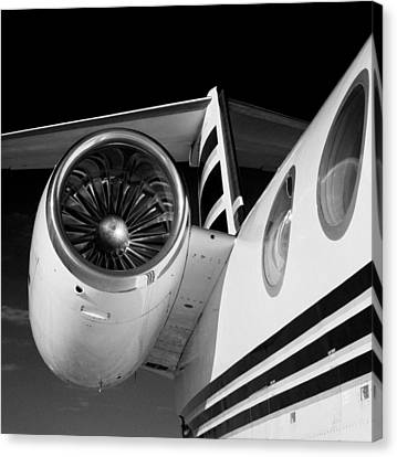 Gulfstream Right Side And Engine Canvas Print