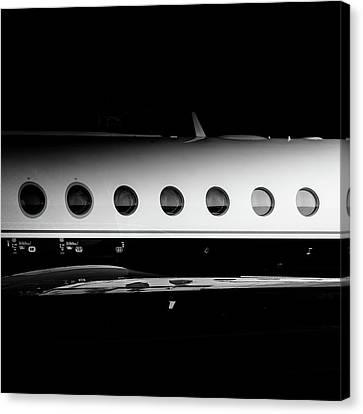 Gulfstream V Windows Canvas Print by Roberto Chiartano