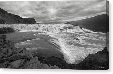 Canvas Print featuring the photograph Gullfoss Waterfall No. 1 by Joe Bonita