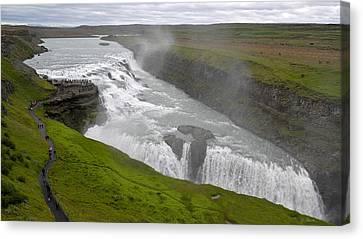 Canvas Print featuring the photograph Gullfoss Waterfall No. 2 by Joe Bonita