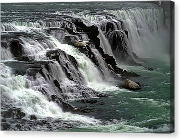 Canvas Print featuring the photograph Gullfoss Waterfalls, Iceland by Dubi Roman