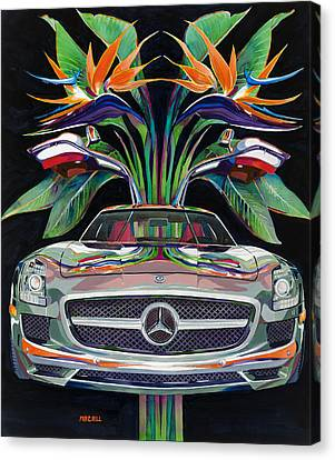 Gullwing Birds Of Paradise Canvas Print by Mike Hill
