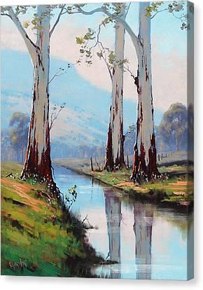 Gum Trees Canvas Print - Gum Reflections by Graham Gercken